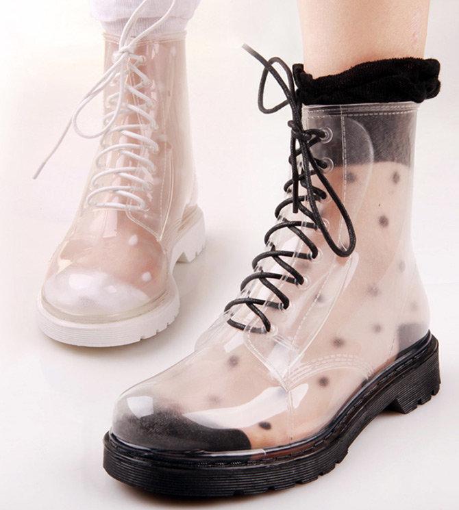 Прозрачная обувь из ПВХ