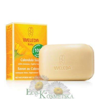 Растительное мыло с календулой и лекарственными травами Веледа Weleda 100 г купить натуральное детское мыло