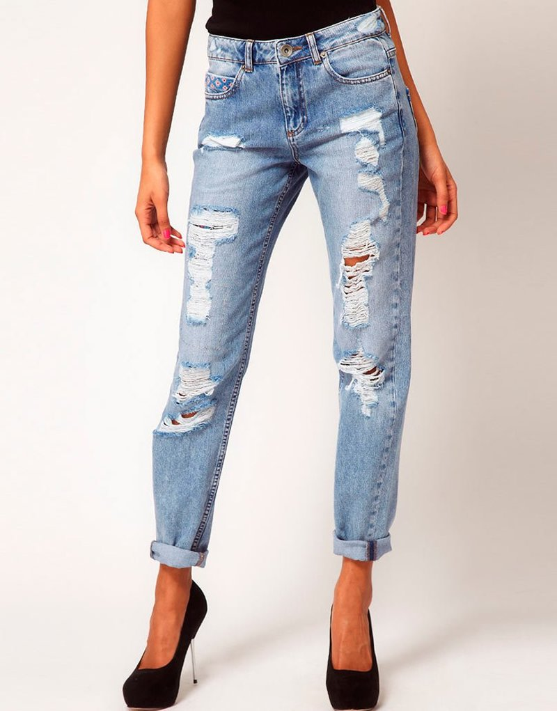 рваные джинсы 2014 фото