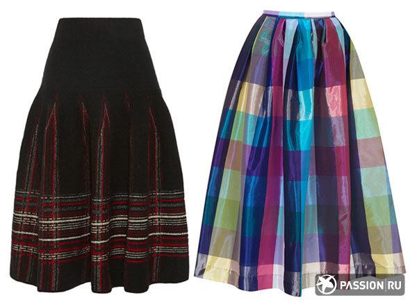 С чем носить юбку-миди?