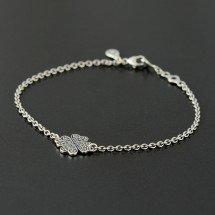 Серебряный браслет с символом удачи, счастья и любви