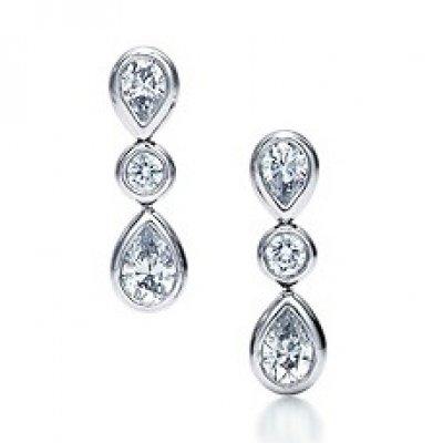 Серьги Tiffany, купить серебряные серьги Тиффани в интернет магазине Lookchic.ru