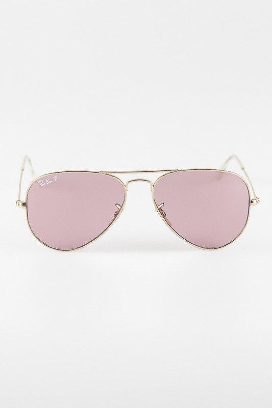 Солнцезащитные очки Ray Ban, цвет розовый и золотистый, артикул G14102932496
