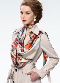 способы завязывания платков и шарфов 9