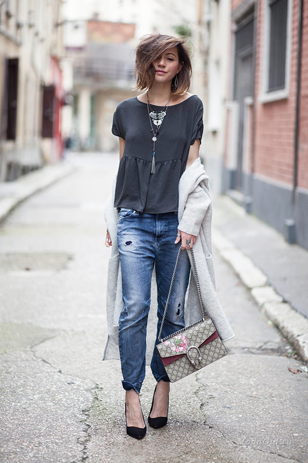 Уличная мода: Весенние модные образы в стиле кэжуал