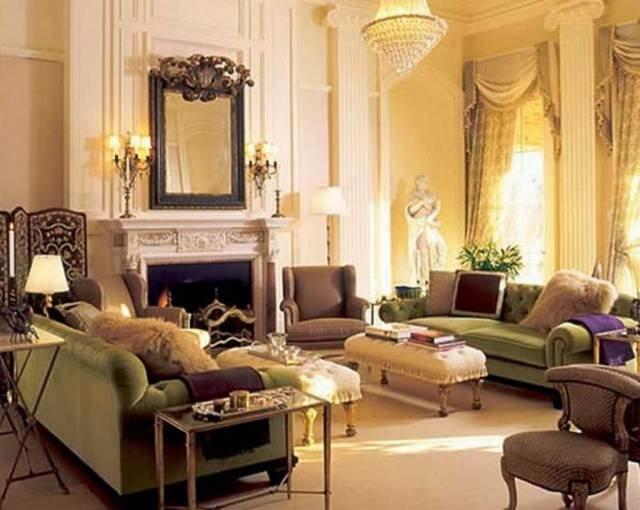 Викторианский стиль фото - Интерьер гостиной | Дизайн интерьера