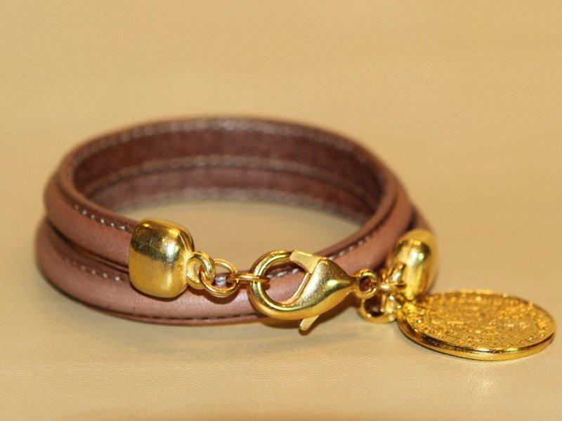 Женские кожаные браслеты - 39