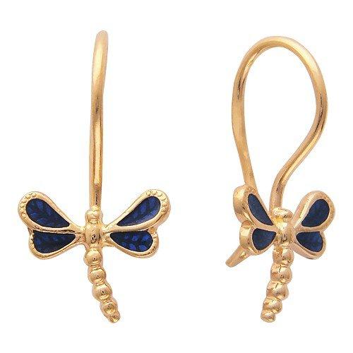 Золотые серьги с эмалью ― CharmGold магазин: серебряные и золотые украшения