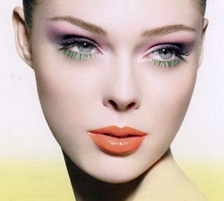 макияж серых глаз