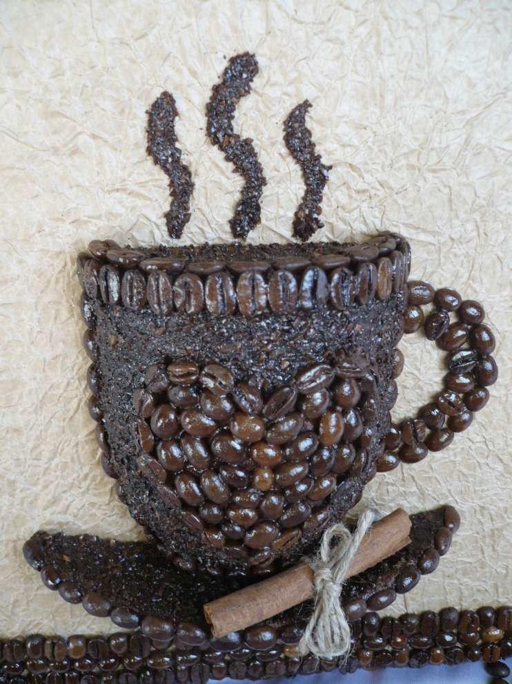 Картинки из кофейных зерен своими руками мастер класс