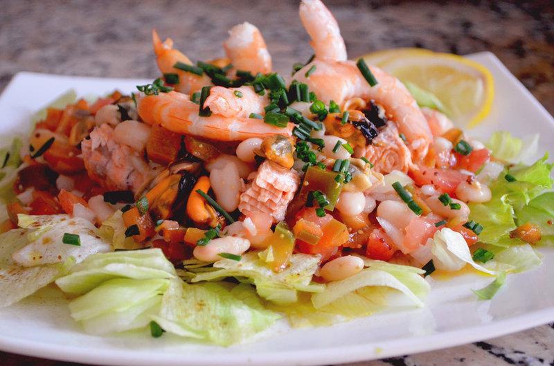 Морепродукты салаты рецепты фото