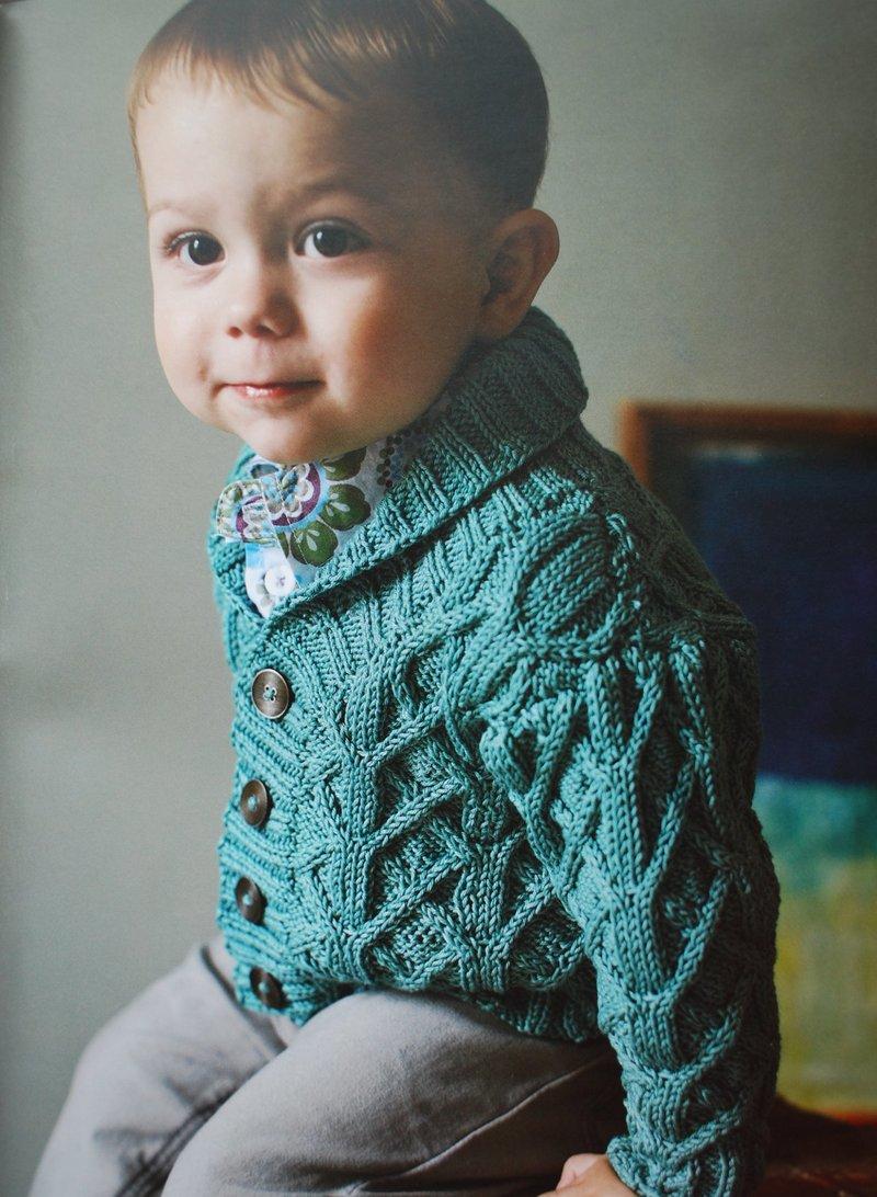 Пуловер для мальчика спицами 1-2 года 19