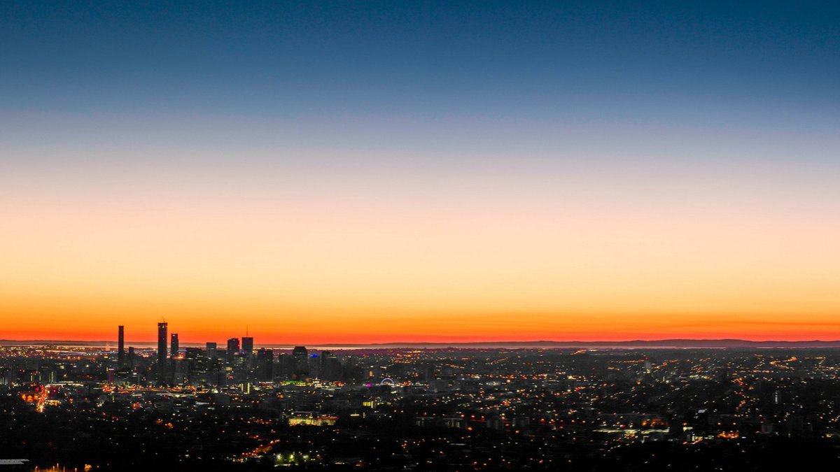 """www.GetBg.net Cities The urban landscape at sunset 043585 ..."