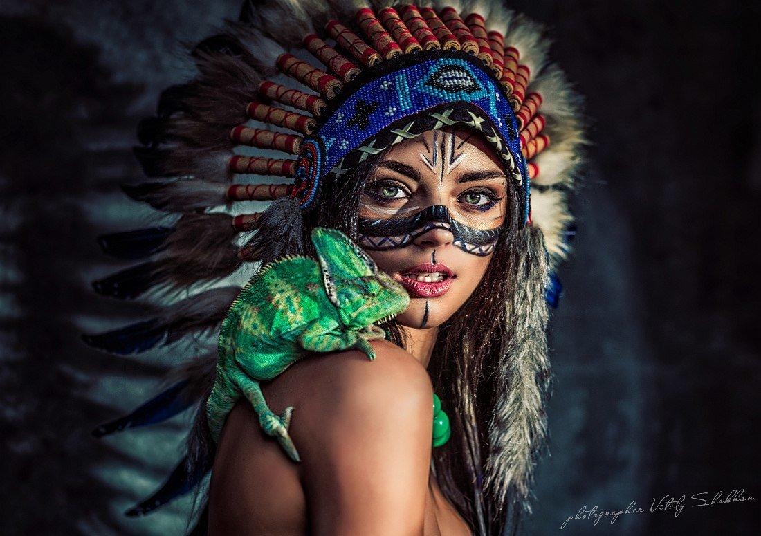фотосессии в образе индейцев пользуются большой популярностью