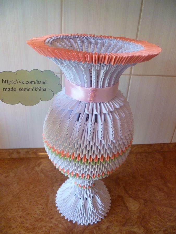 ваза из модулей схемы фото такое аффинированное