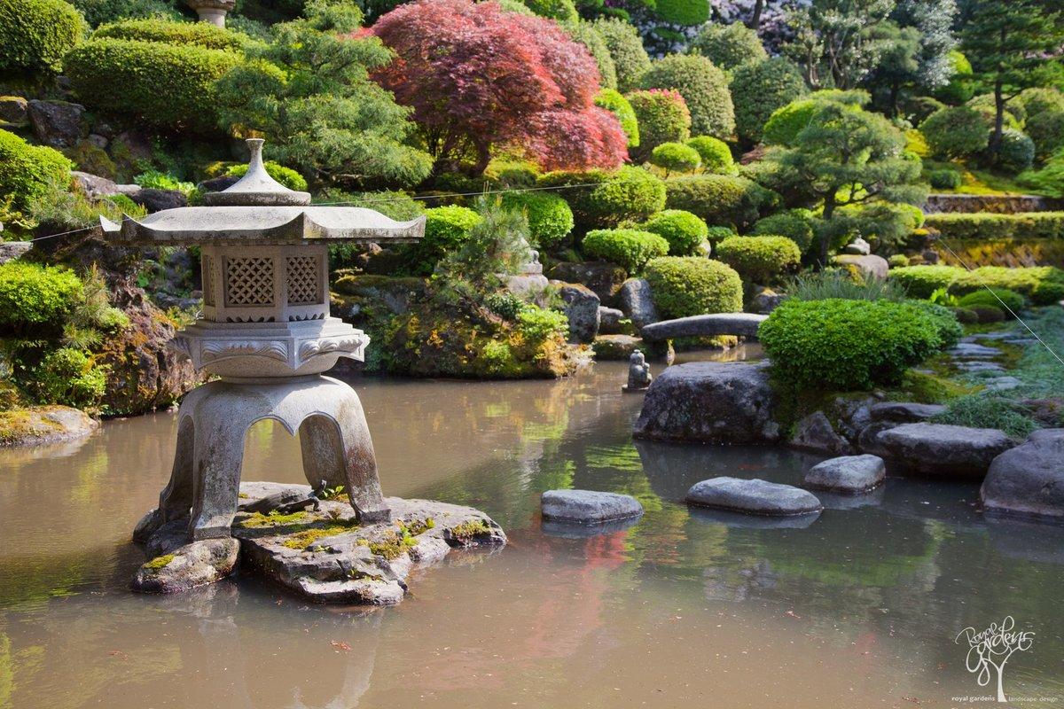 изображение японского сада на картинке сочетание уникальной