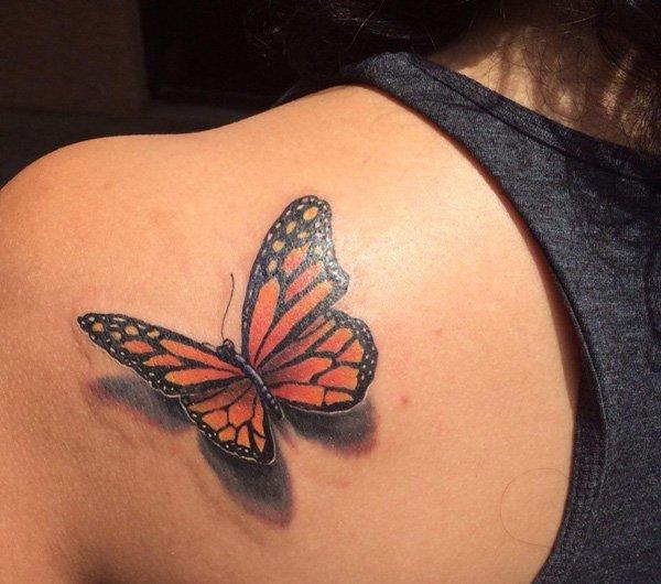43 3D Butterfly Tattoo