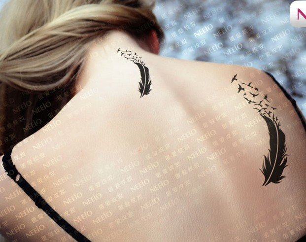 Feather Bird Tattoo Shoulder Feather Bird Tattoo Shoulder
