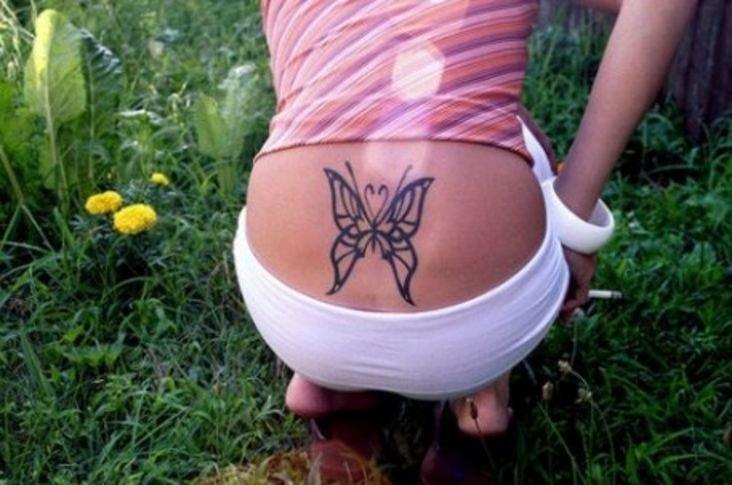 Оригинальные женские тату на пояснице (Фото) | Феломена