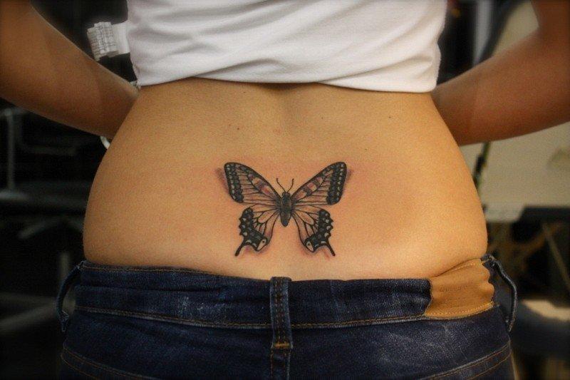 Оригинальные женские тату на пояснице (Фото)   Феломена