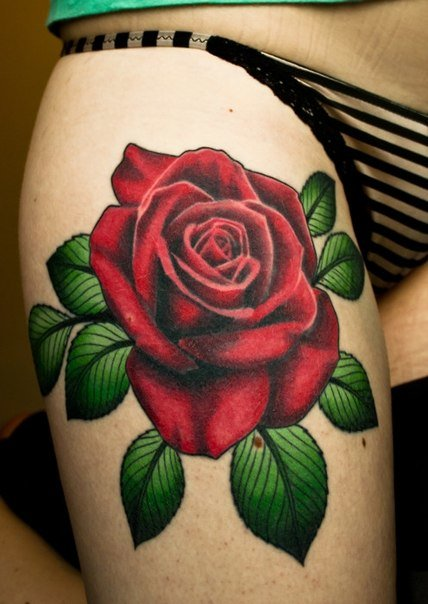 Разнообразные татуировки на бедрах!… | Мир татуировок