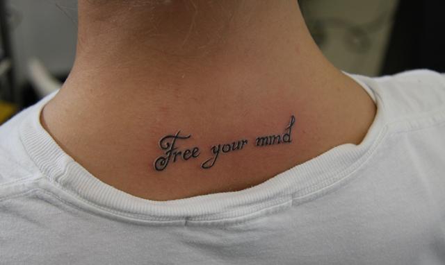 Тату для девушек на шее: как выбрать? Эскизы татуировок для девушек: фото   LS