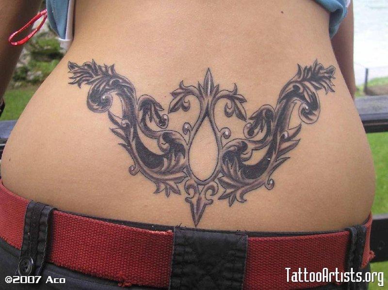 Татуировки на пояснице (20 …