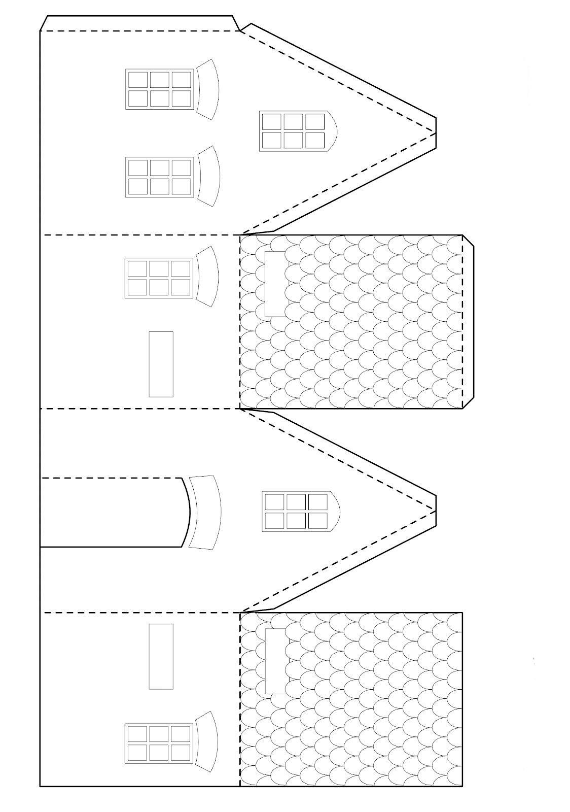 Домик из картона своими руками шаблоны