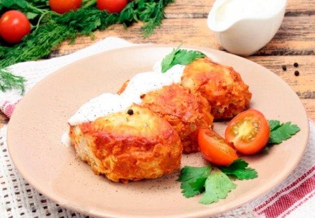 голубцы слоями рецепт с фото пошагово в духовке