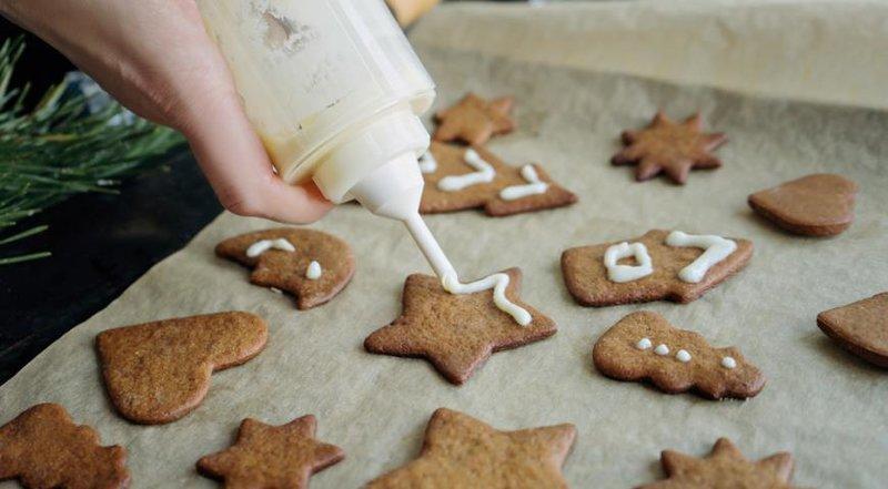 Декор имбирного печенья