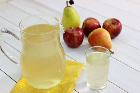 Компот из яблок — рецепт