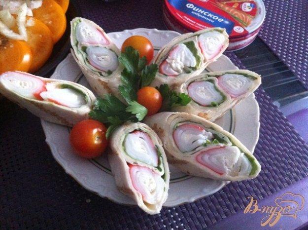 Тортилья с французским крабом - пошаговый рецепт с фото