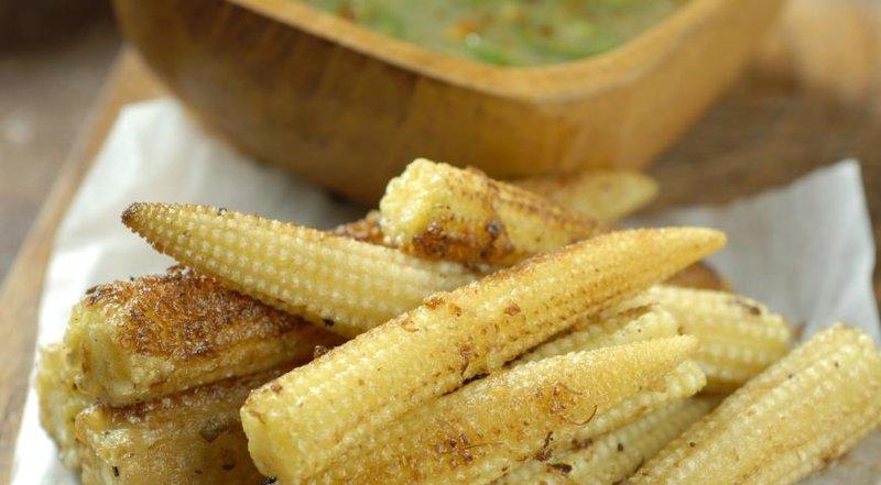 Запеченные кукурузные початки