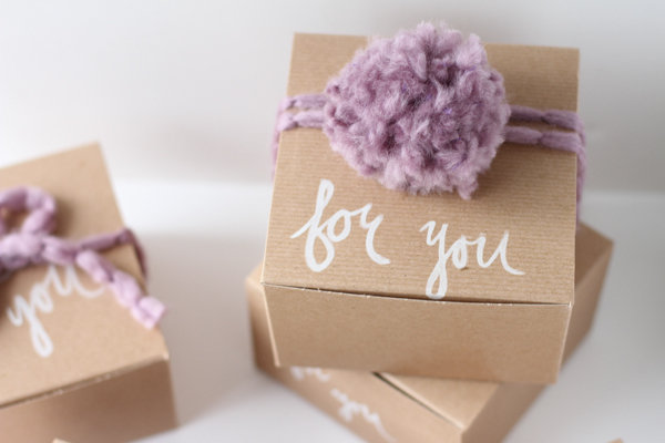 DIY: Hand Painted 'For You' Gift Boxes - Project Wedding