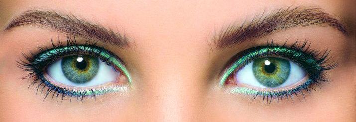 карандаш для зелено-голубых глаз