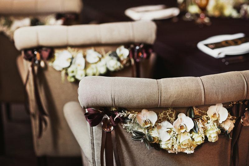 Свадебное оформление в стиле Гэтсби в журнале «Фата» | Фотограф Ольга Хазай