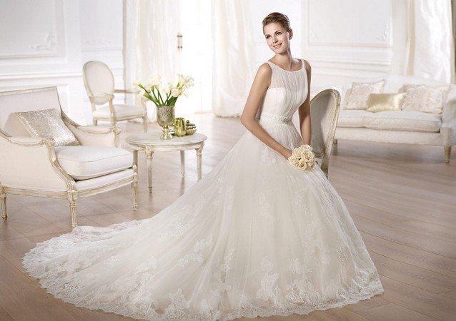 свадебные платья 2015 с кружевом