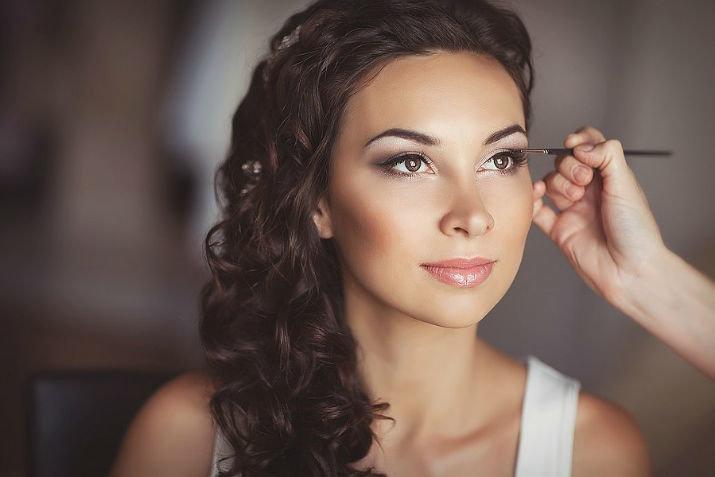 Свадебный макияж для карих глаз 25