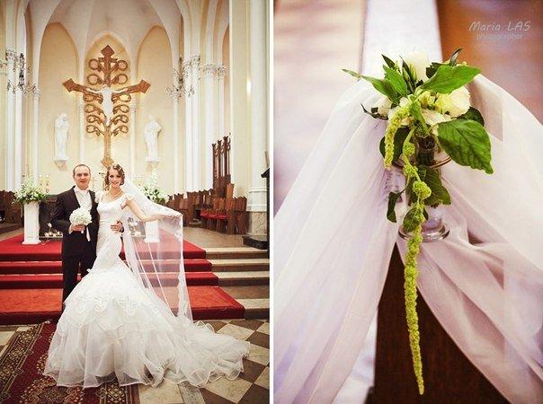 Таинство любви и веры — католическое венчание Павла и Валерии. Год назад ребята соединили свои руки,… | Свадьба и все о ней