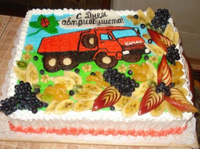 Торт для водителя картинки