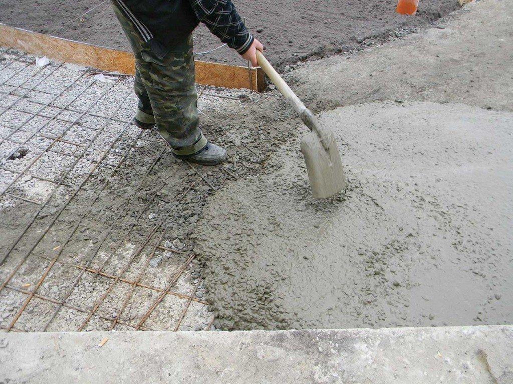 бетонную
