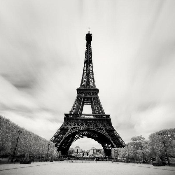 Франция картинки черно-белые