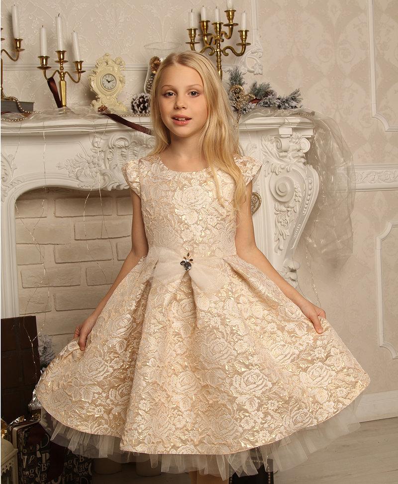 Платья для девочек из парчи