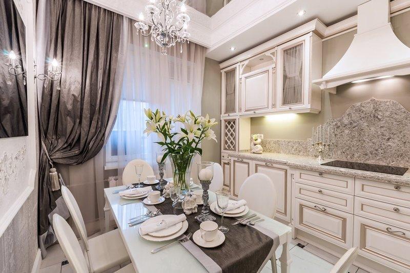 красивые кухни в светлых тонах фото