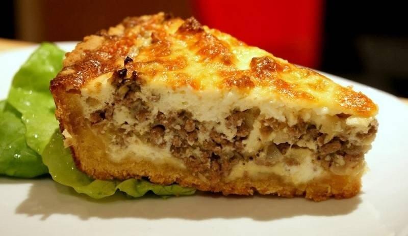 пирог с картошкой капустой и мясом