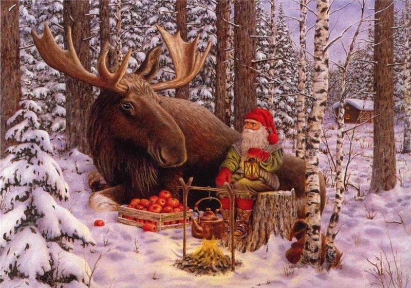 С новым годом охотники открытка