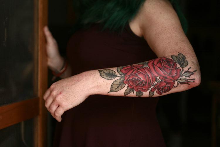 цветные тату на руке для девушек фото