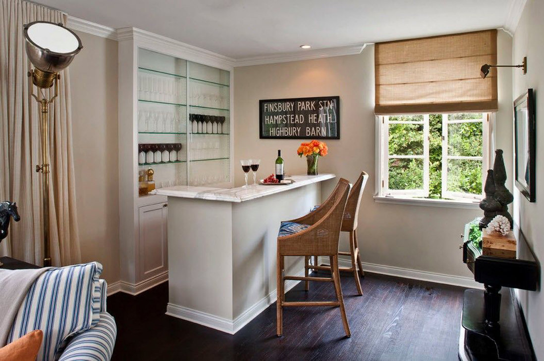 отличное мини кухня в гостиной фото кабана