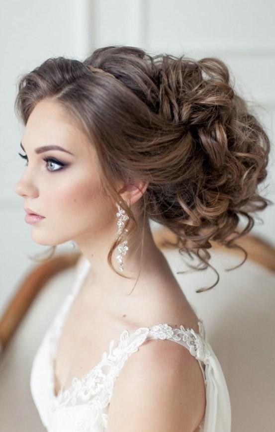Прическа свадебная объемная