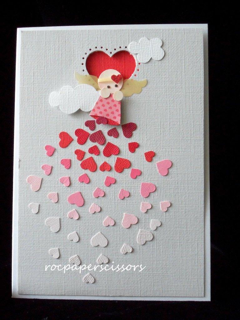 Ангелок на открытку своими руками, дочери маме